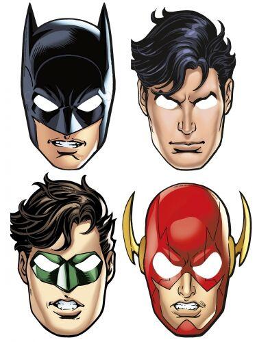 8 maschere in cartone Justice League