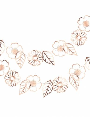 Ghirlanda floreale oro rosa
