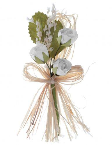 2 bouquet artificiali di rose bianche