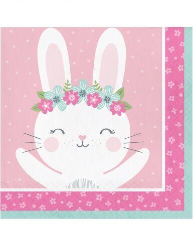 16 tovaglioli di carta rosa coniglio