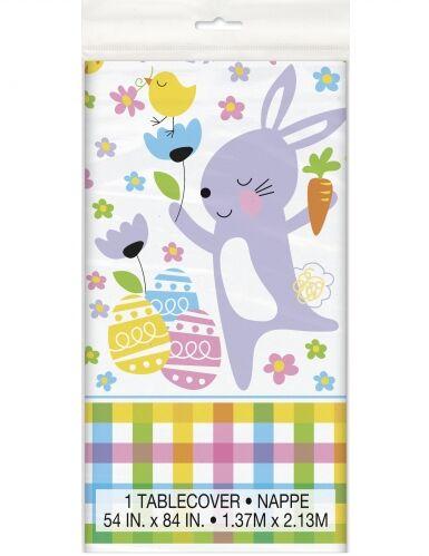Tovaglia in plastica coniglietti e uova