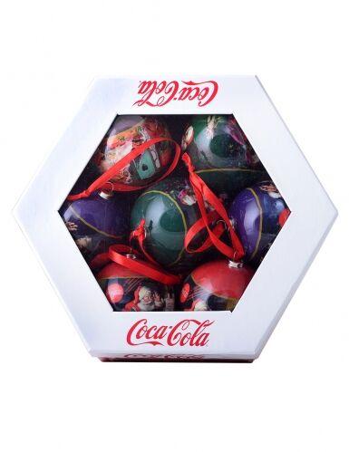7 palline di Natale Coca Cola
