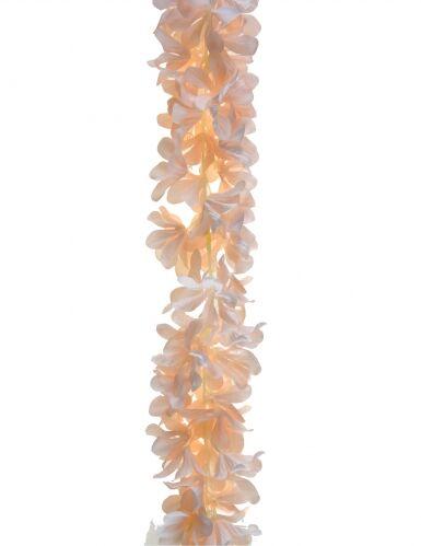Ghirlanda di fiori in poliestere color pesca