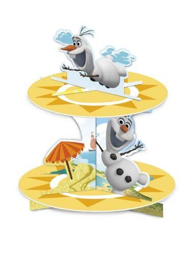 Alzata per cupcakes in cartone Olaf al mare