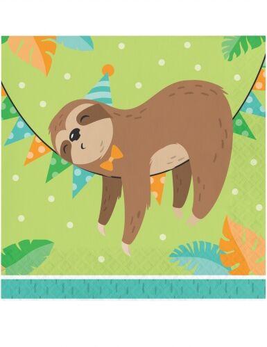 16 Tovaglioli di carta piccolo bradipo