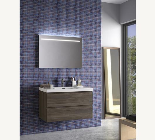 Duzzle Mobile Bagno Sospeso Angela 90 cm grigio acero con specchio led