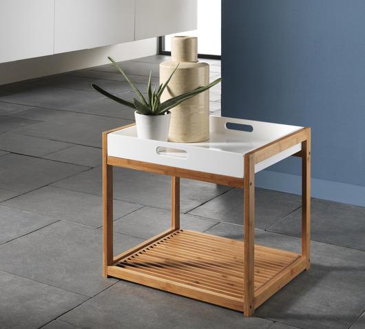 TFT Home Furniture Scaffale 2 Ripiani in legno di bamboo