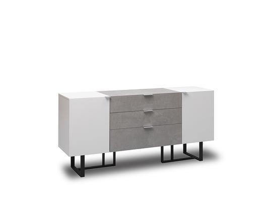 Twist Design Madia Buffet Kakul colore bianco ed effetto cemento di