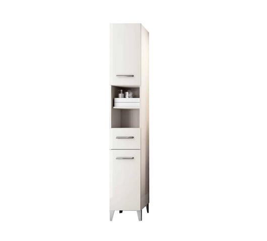 Flow Fusion Design Colonna Pariaba 2 ante 1 cassetto color bianco laccato