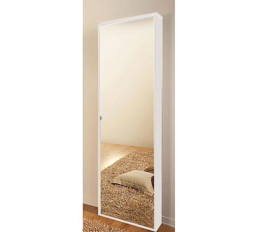 Twist Design Scarpiera con anta a specchio Narciso bianca