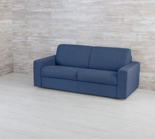 Duzzle Divano letto matrimoniale trasformabile Marsiglia blu con materasso da 160