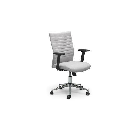 Twist Design Poltrona da ufficio con rotelle Ghat Grigio Chiaro di