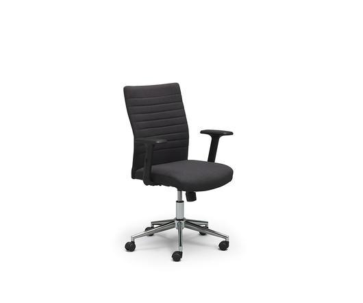 Twist Design Poltrona da ufficio con rotelle Ghat Grigio Scuro di