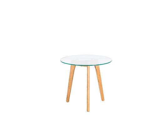 Flow Fusion Design Tavolino rotondo con top in vetro HET021