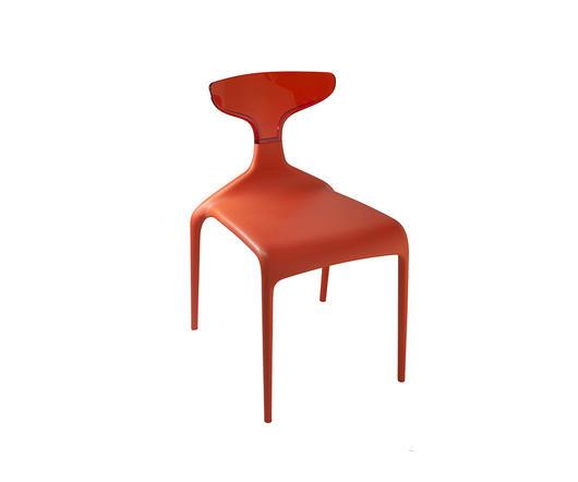 Green Sedia Punk Design Moderno colore rosso