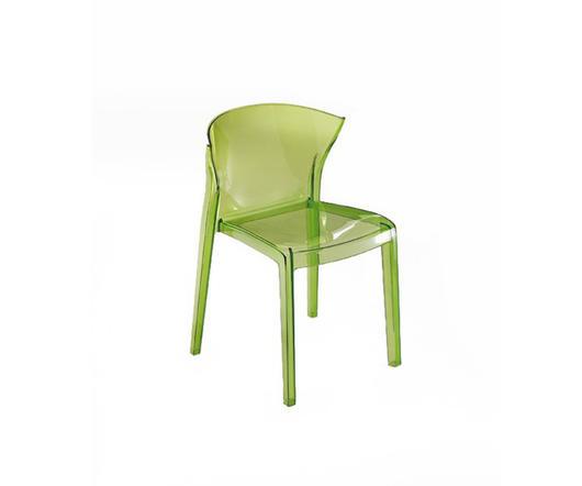 Green Sedia Moderna Nord in policarbonato verde trasparente