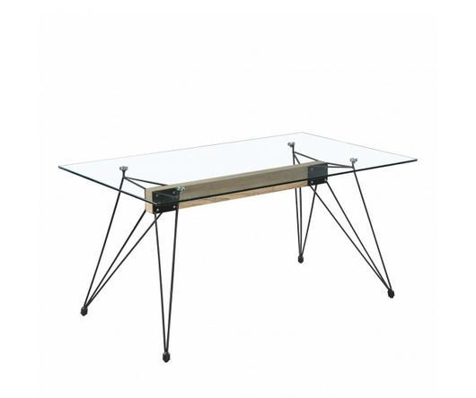 Duzzle Tavolo in vetro Morgan con gambe in metallo (140 x 90 cm)
