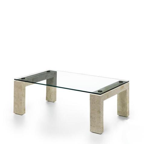 Stones Tavolino da salotto Millerighe bianco