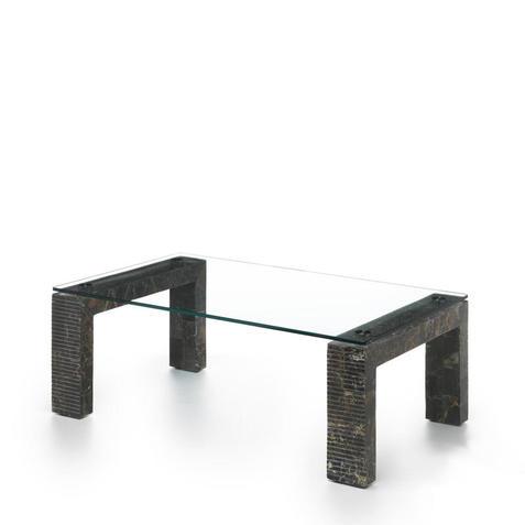 Stones Tavolino da salotto Millerighe nero