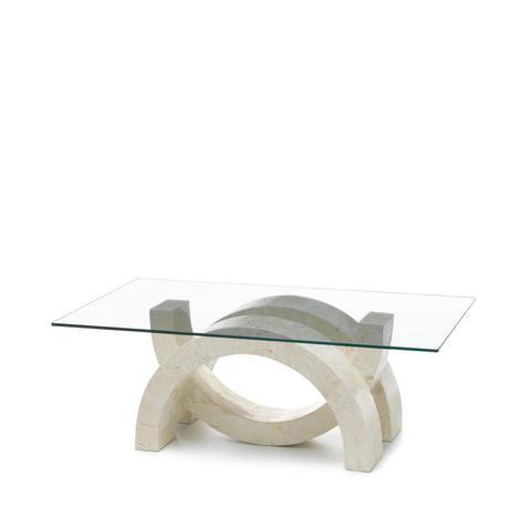 Stones Tavolino da salotto Olimpia in pietra bianca FS/080/WA/A