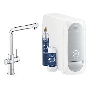 Grohe Blue Home 31454 Sistema Completo Rubinetto Bocca A L - Refrigeratore Con Wifi Cromato Codice Prod: 31454001