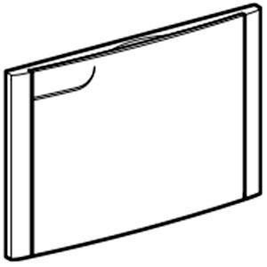Geberit Ricambio Compact 612.445.21.1 Placca Cromato Codice Prod: 612.445.21.1