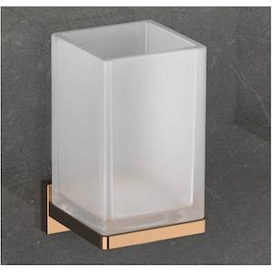 Colombo Design Look B1602 Porta Bicchiere Parete Vetro Acidato Naturale Vintage Codice Prod: B16020vl-Van