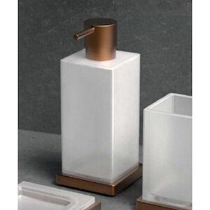 Colombo Design Look B9317 Porta Dispenser Appoggio Vintage Mat /vetro Acidato Codice Prod: B93170vm-Van
