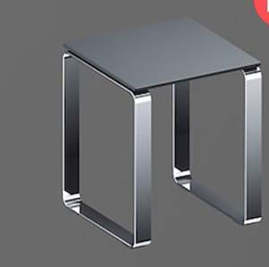 Koh-I-Noor Sgabello 35,5x35,5 H43 Alluminio Lucido Antracite Codice Prod: 5470kn