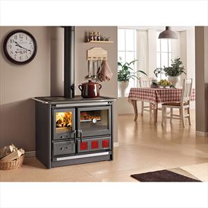 La Nordica Rosa Xxl 7015190 Cucina A Legna Nero Codice Prod: 7015190