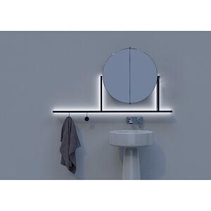 Desivero Design Complemento Integrato D'Arredo E Illuminazione Float 1300 Black Codice Prod: Specchiera1300_black
