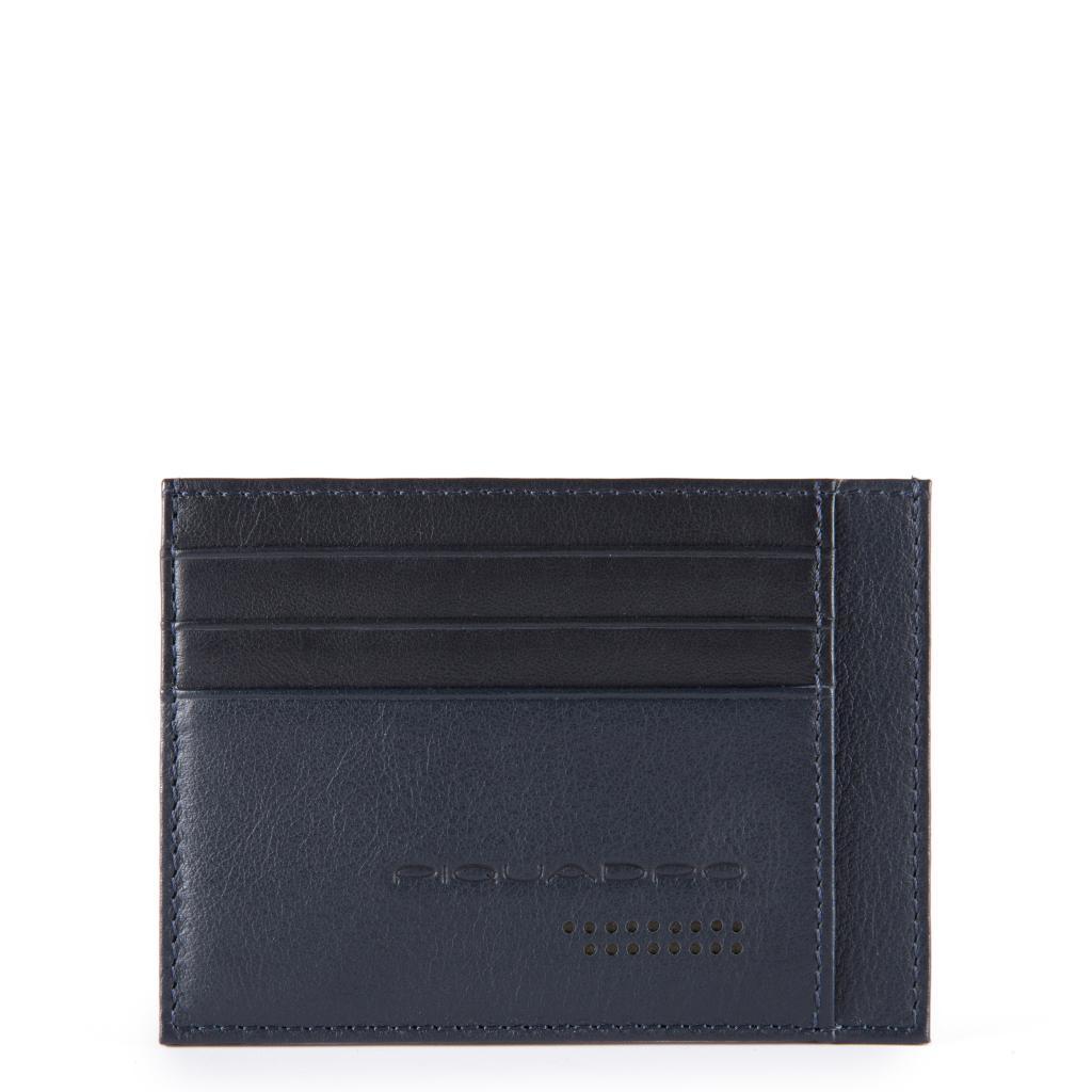 piquadro urban bustina porta carte di credito - blu