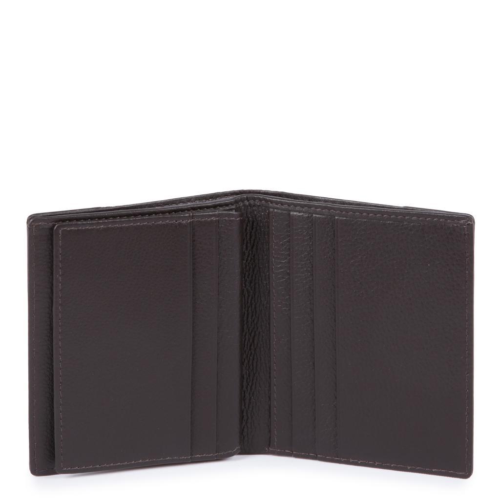 piquadro pulse p16 porta carte di credito - chevron/testa di moro