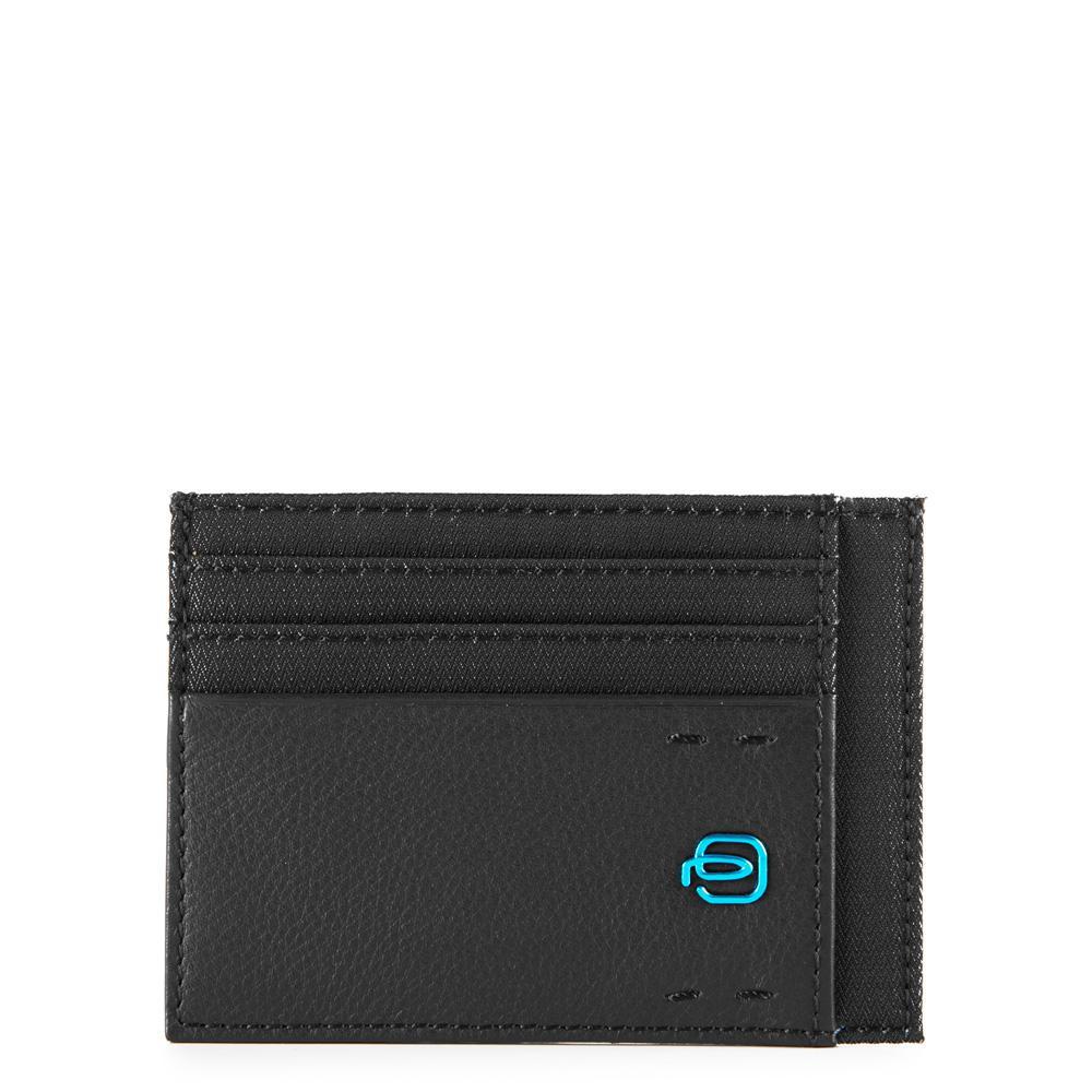 piquadro pulse p16 porta carte di credito - chevron/nero