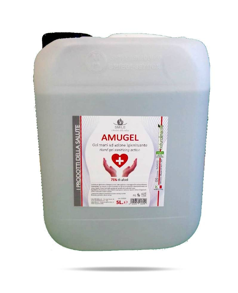 amugel 5 lt - gel disinfettante mani (8021055116449)
