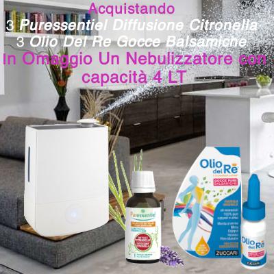 Umidificatore 3 Olio Del Re + 3 Puressentiel Diffu