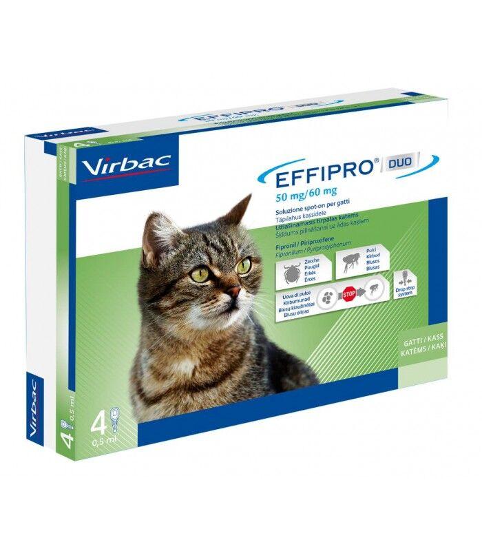 VIRBAC Srl Effipro Duo*4pip 1-6kg Gatti
