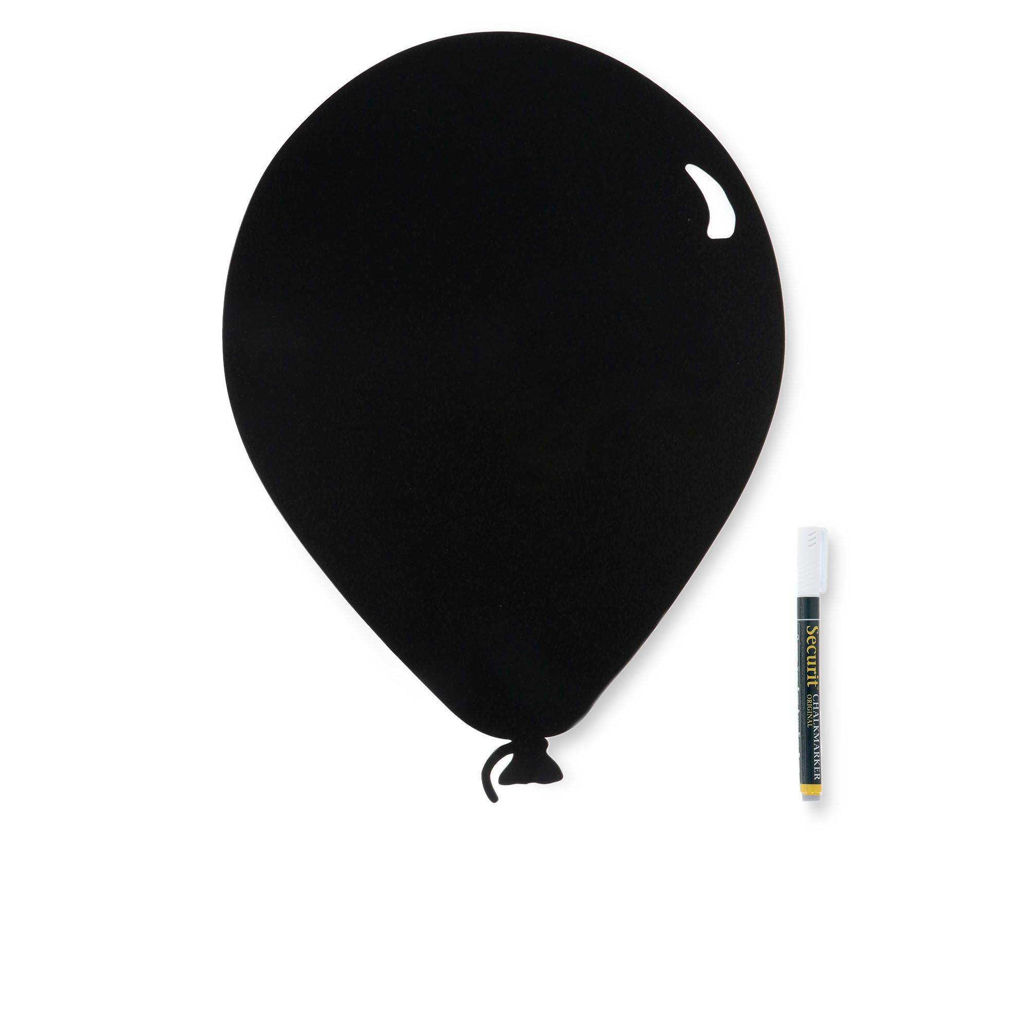 securit lavagna palloncino con pennarello e adesivi