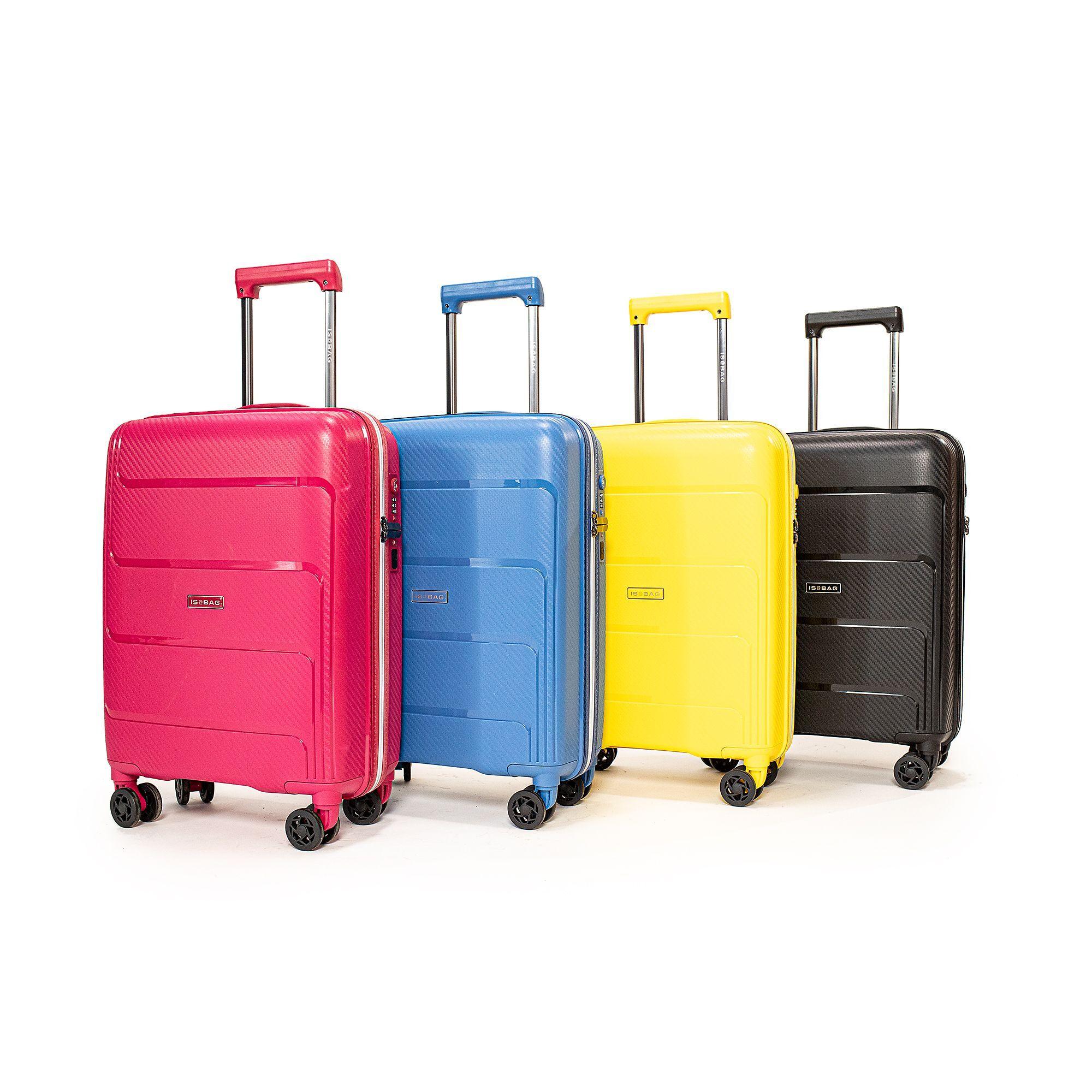 is@bag trolley bagaglio a mano con chiusura tsa e presa usb