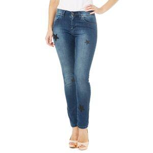 Ambra Jeans Jeans 5 tasche con decoro a stelle