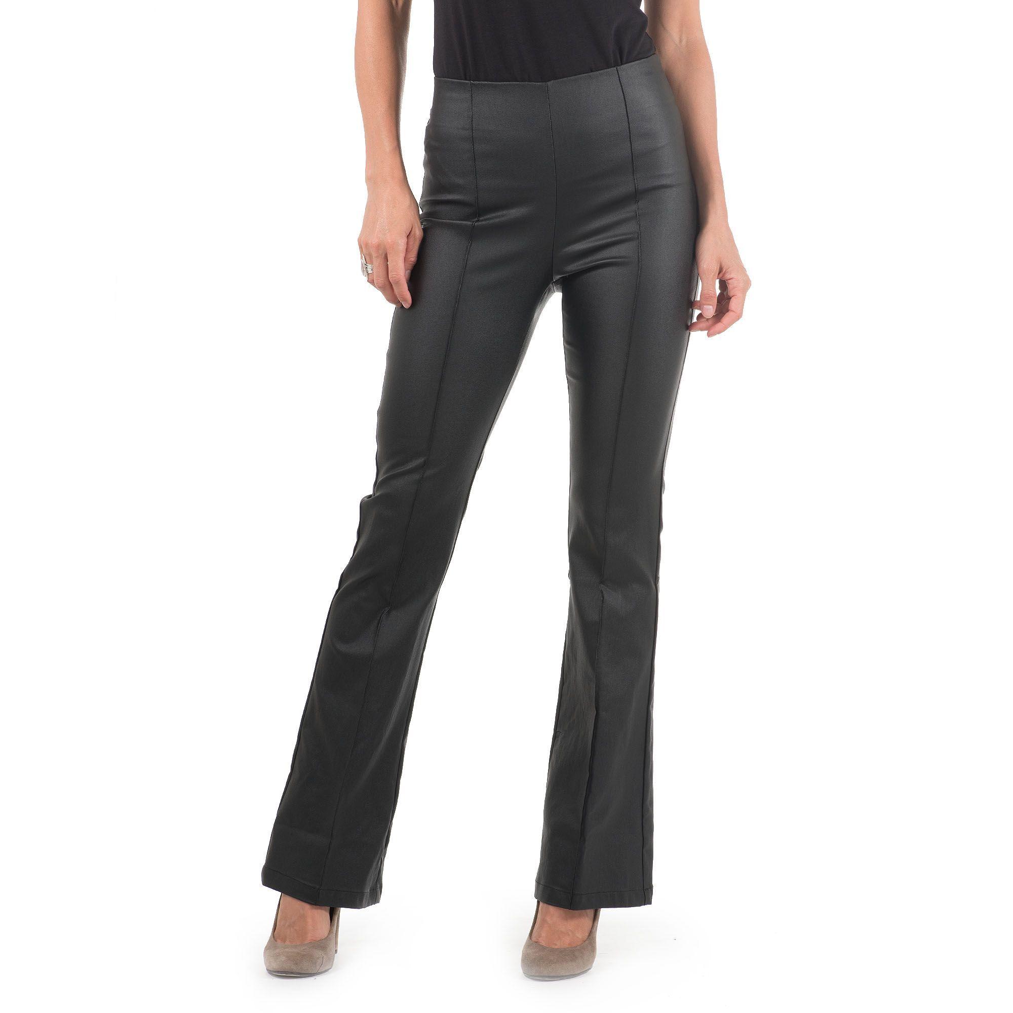 41e5da347d35f3 Officina della Moda Pantaloni made in Italy effetto pelle