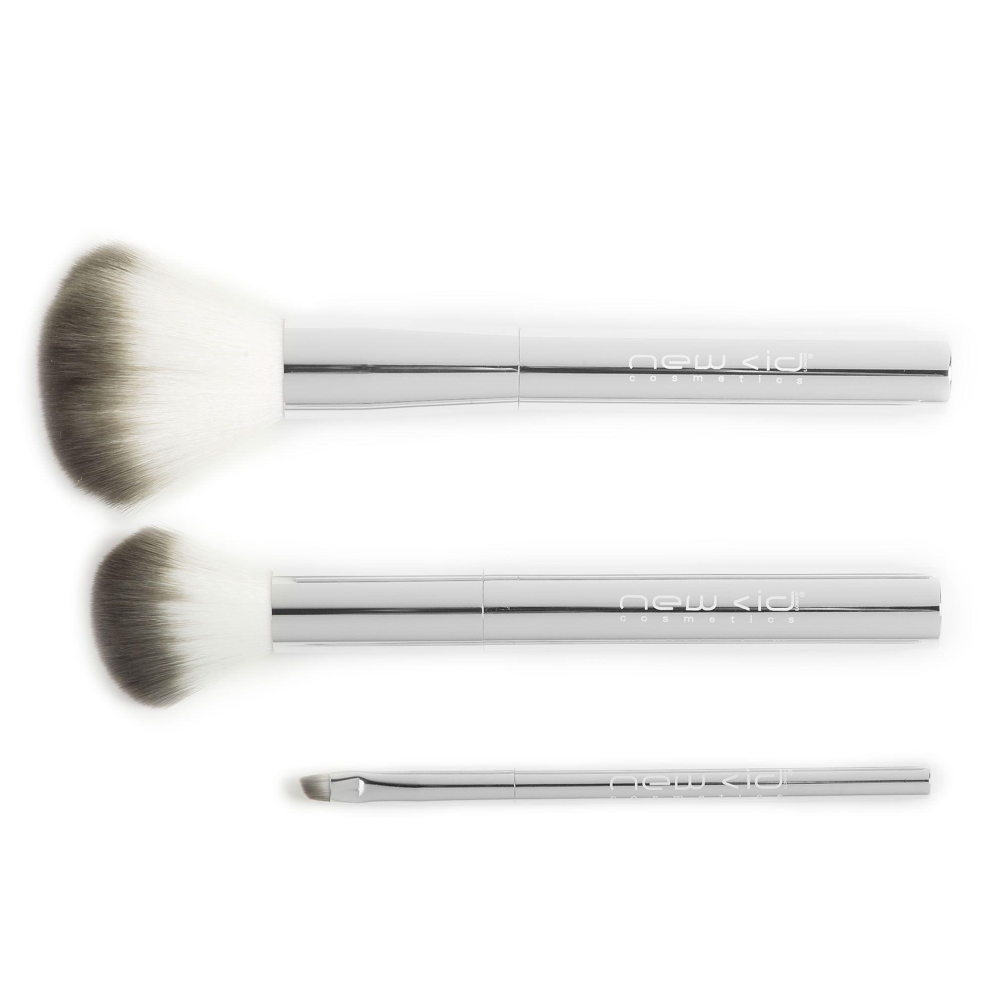 new cid cosmetics kit tre pennelli make-up applicazione perfetta