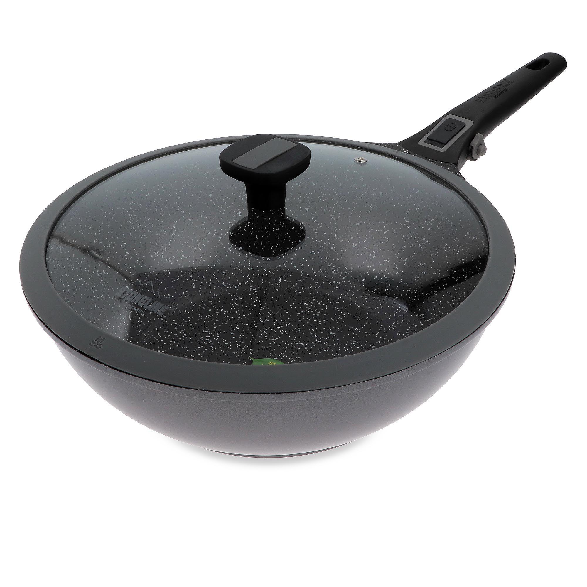 stoneline imagination plus wok 30cm con coperchio
