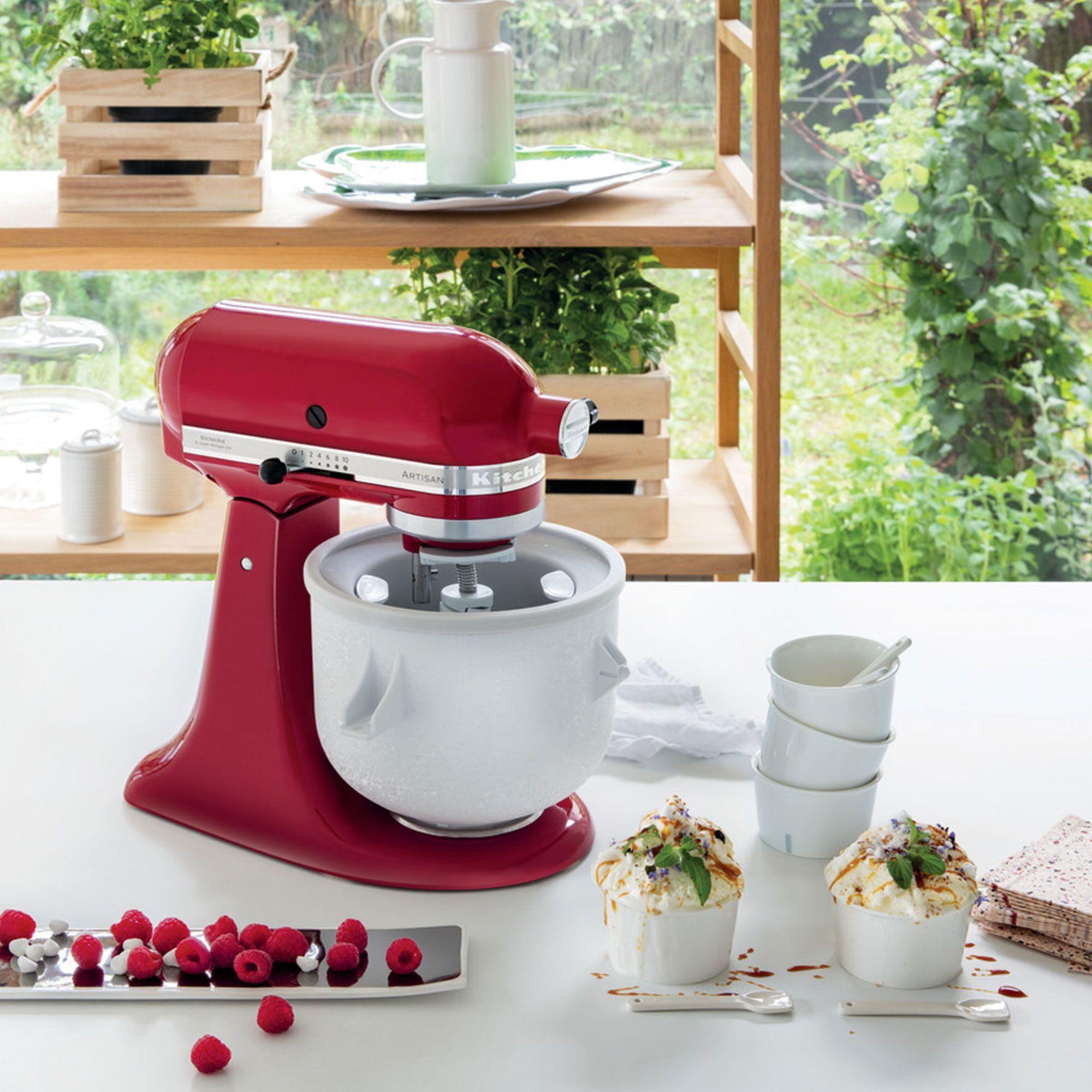 kitchenaid artisan 125 robot da cucina + accessorio gelatiera