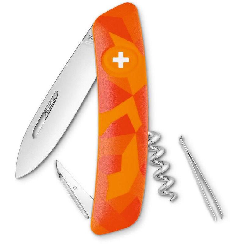 SWIZA Coltellino svizzero C01 LUCEO Camo Urban Orange