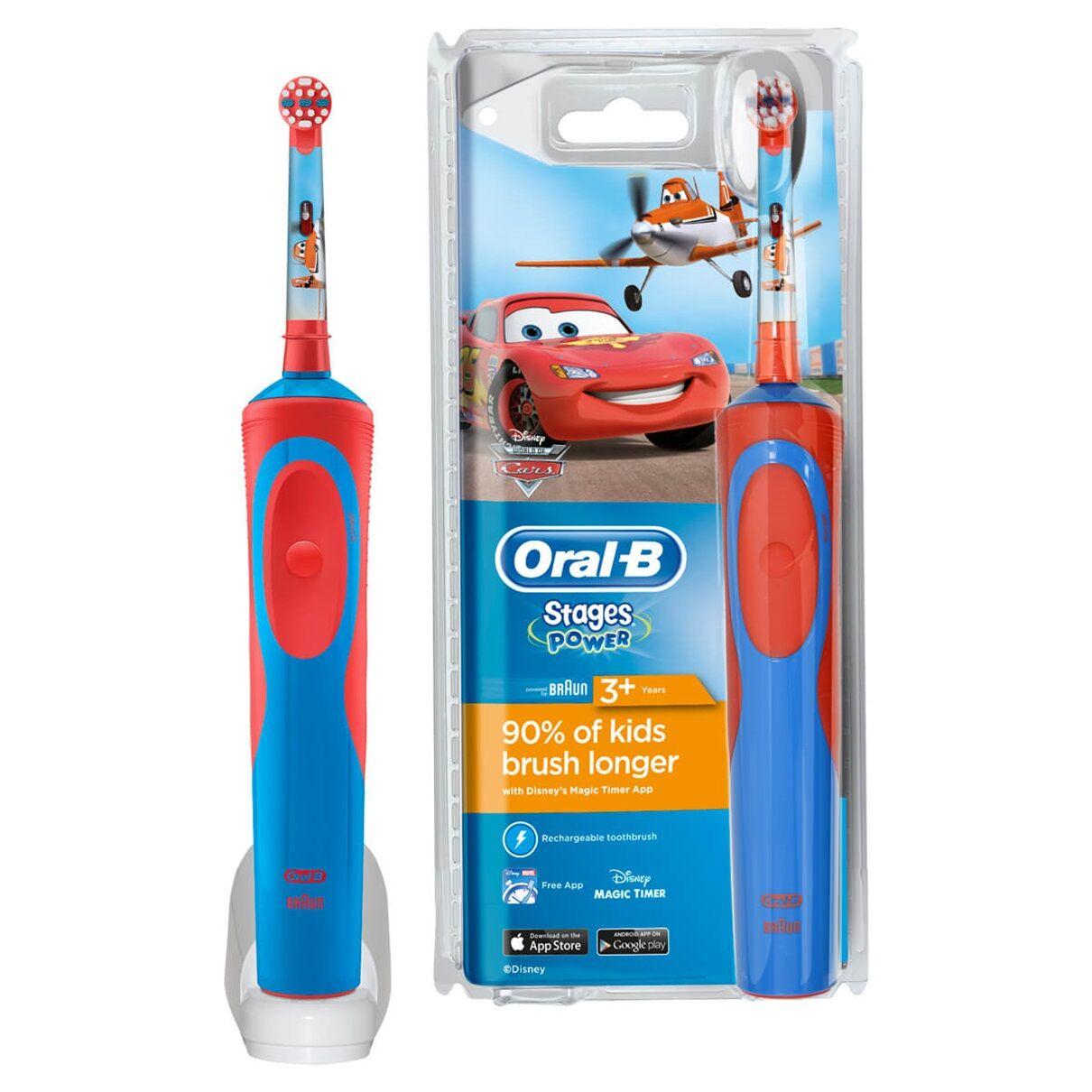 Procter & Gamble Oral B Stages power vitality Spazzolino elettrico Cars per bambini 3+ anni