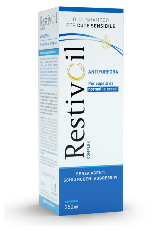 Chefaro Pharma RestivOil Complex Olio Shampoo Antiforfora per cute sensibile e capelli da normali a grassi (250 ml)