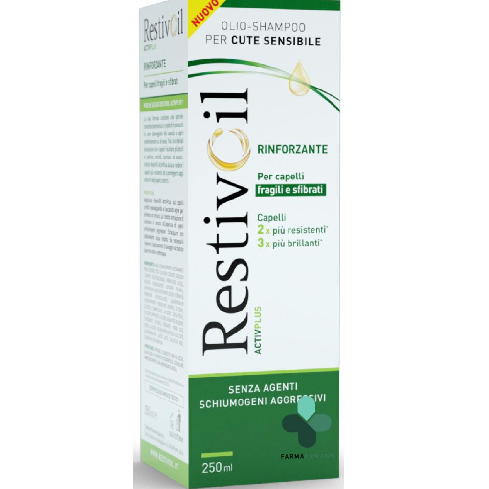 perrigo restivoil olio shampoo active plus rinforzante per capelli fragili e sfibrati (250 ml)