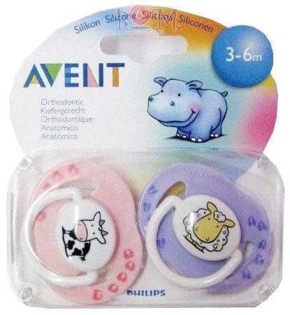Philips Avent Succhietti in silicone decorati da 3 a 6 mesi (2 pz)