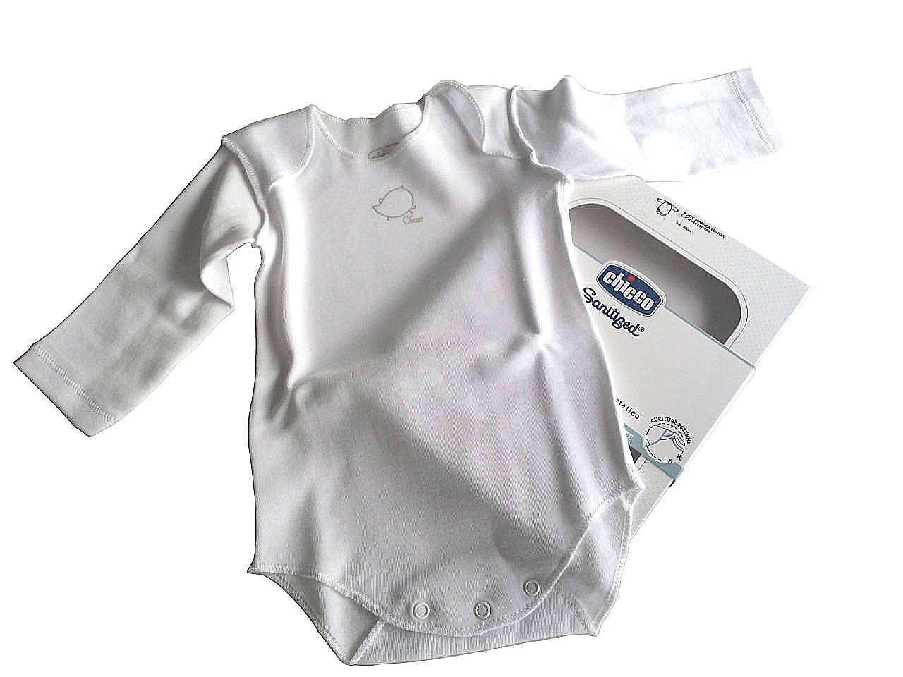 Chicco Sanitized Body neonati 100% cotone mesi 6 colore bianco manica lunga (1 pz)